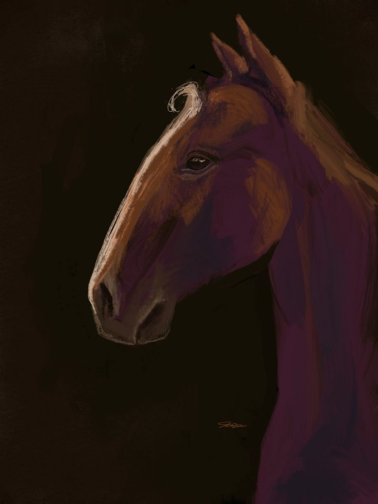 Amazing Horse Paint Sketch